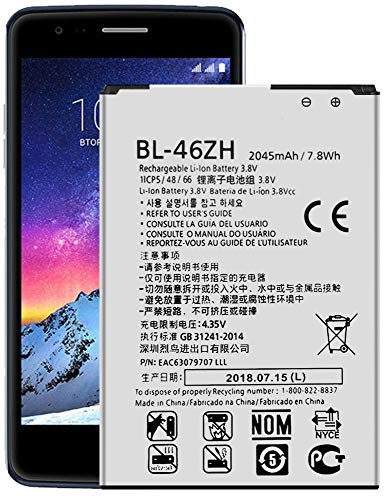 for LG Phoenix 2 Replacement Battery BL-46ZH Battery