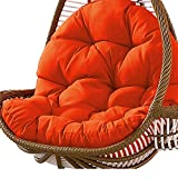 Columpio Canasta colgante Cojín del asiento Almohadillas para silla de hamaca de huevo colgante espesadas para el patio del hogar Jardín 31 x 47 pulgadas Naranja
