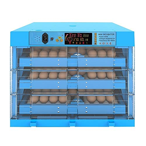 ZFF Egg Incubator and Hatcher 192 Eggs Large Incubators for Hatching Eggs Digital Automatic Turning Poultry Chicken Duck Dove Quail