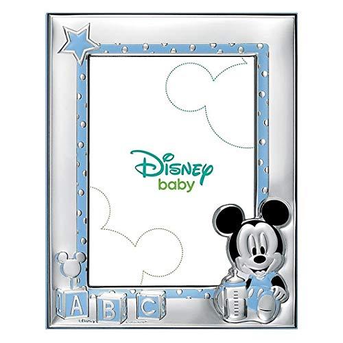 Cadre Photo Portafotos Plata 925M Disney 18X13Cm Loi. Bébé Mickey