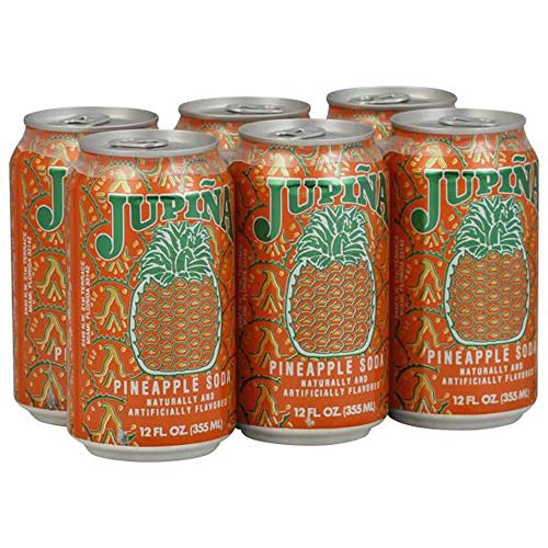 Jupina Pineapple Soda 12 oz. Case of 6 Cans