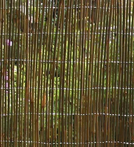 VERDEMAX 52001X 3M Canne Di Bambù Stockade Grezzo Con Grande E Dotato Di Filo