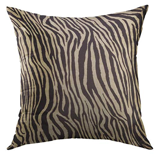 Mugod Decorative Throw Pillow Cover for Couch Sofa,Black African Zebra Skin Home Decor Pillow Case 18x18 inch
