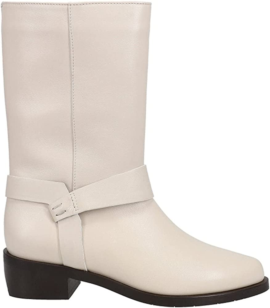 AQUATALIA Womens Giulianna Calf Zippered Boots Mid Calf Low Heel 1-2