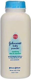 Johnson's Baby Aloe & Vitamin E Baby Powder, 4 oz (Pack of 12)