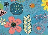 Die Stofftante Canvas Druck mit PVC-Coating, Blumen,