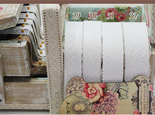 Craft Adhesive Deco Fabric Tape Rolls Multi-Function Adornment Lace Tape (32 Lace Tape)