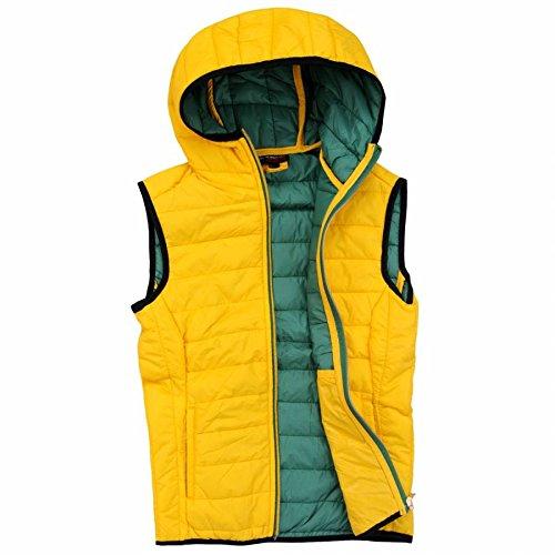 EXUMA Damen Sportbekleidung Aufgeblasen Westen, Yellow, XL