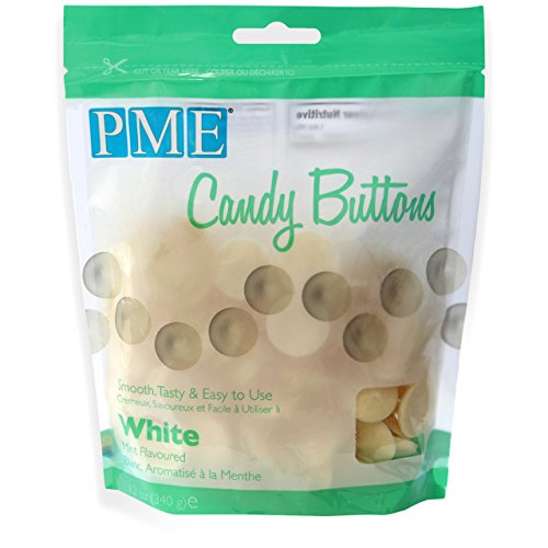 PME Candy Buttons - White . 340 grams / 12 Oz. Like Wilton Melts. Perfect for Cake Pops and other Candy & Chocolate Making by The Baker Shop