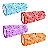 YINZHI Rodillo de Espuma Deporte Fitness 33 * 14 cm / 26 * 8cm Bloque de Yoga Gimnasio Pilates Yoga Bloques Entrenamiento Músculo Masaje Rodillo Equipo de Ejercicio (Color : Orange)
