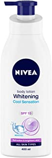 NIVEA Body Lotion, Whitening Cool Sensation, SPF 15, For All Skin Types, 400ml