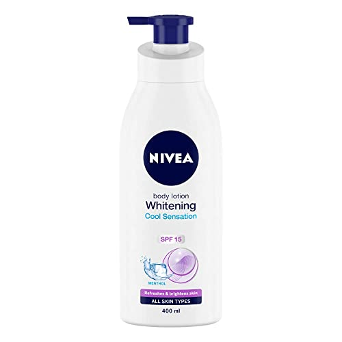 NIVEA Body Lotion, Whitening Cool Sensation, SPF 15, For All Skin Types, 400ml