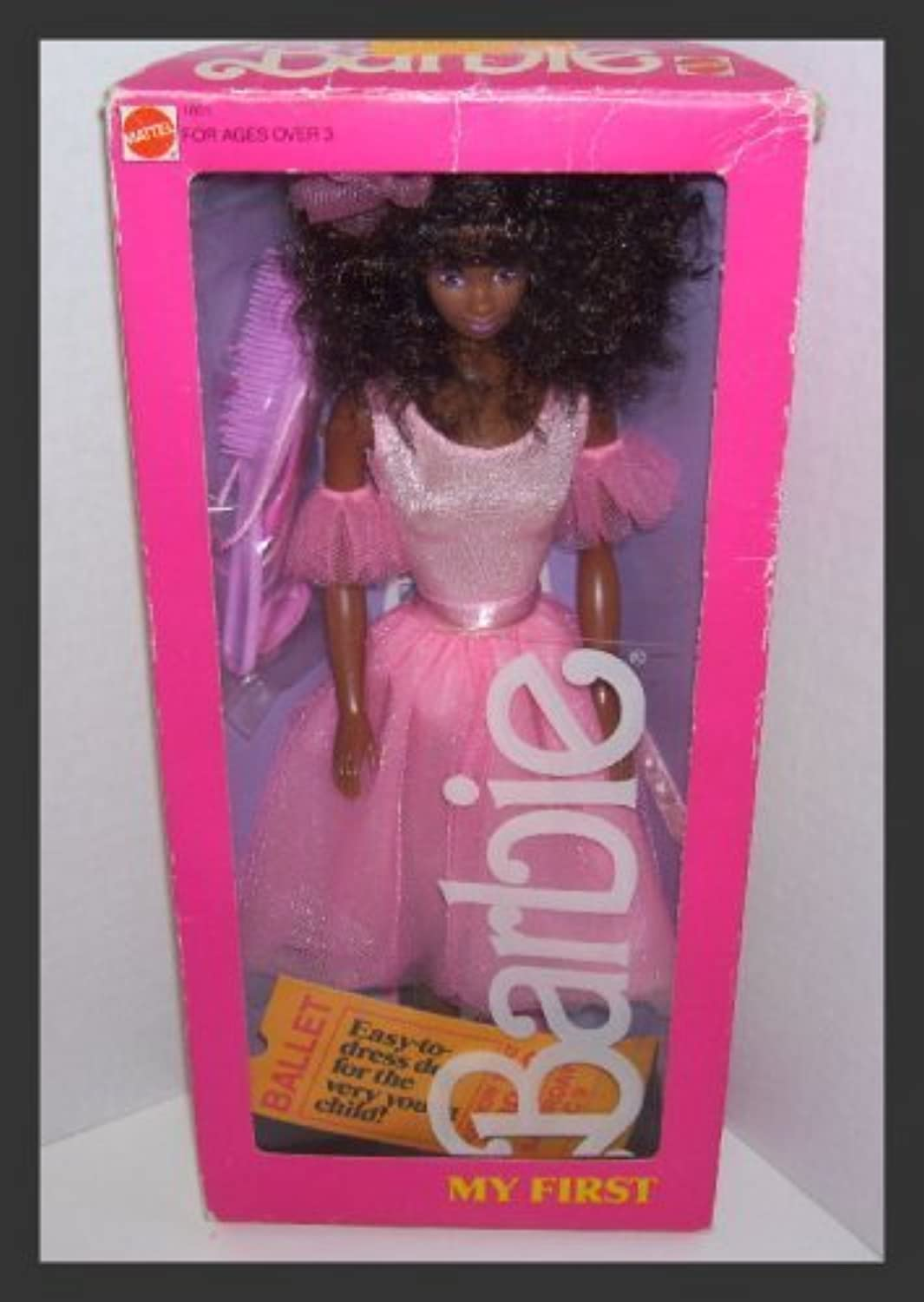 My First Barbie African American 1986  1801 by Mattel