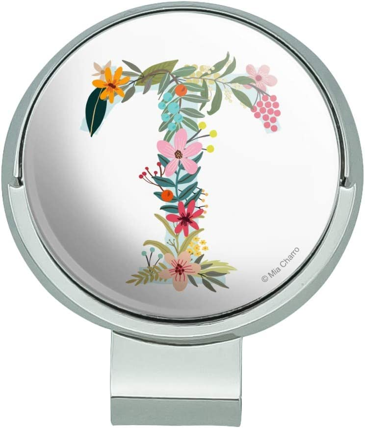 GRAPHICS MORE Letter T Bombing new work Floral Monogram w Initial Hat Sale special price Clip Golf