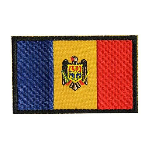 ShowPlus Moldawien-Flagge Patch Mildawien bestickt taktischer Patch Mildawien