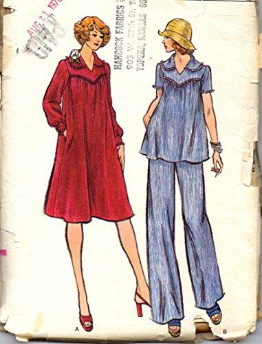 Vogue vintage sewing pattern 9088 maternity dress, tunic, pants - Size 8