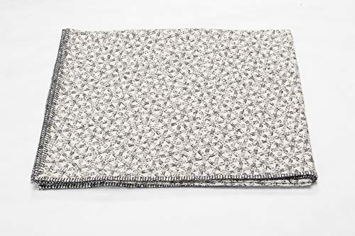 David Fussenegger - NOVA - Bettüberwurf - Tagesdecke - Geflecht - rohweiß - 140 x 220 cm