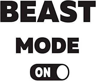 TOARTi Beast Mode On Wall Decal Inspirationl Quotes Wall Sticker, Fitness Center Self Motivation Workout Sticker, Lettering Sticker Gym Room Decor