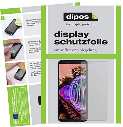 dipos I 6X Schutzfolie matt kompatibel mit JVC J20 Folie Bildschirmschutzfolie
