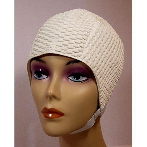 Bubble Crepe Swim cap with Chin Strap (Adult Size)