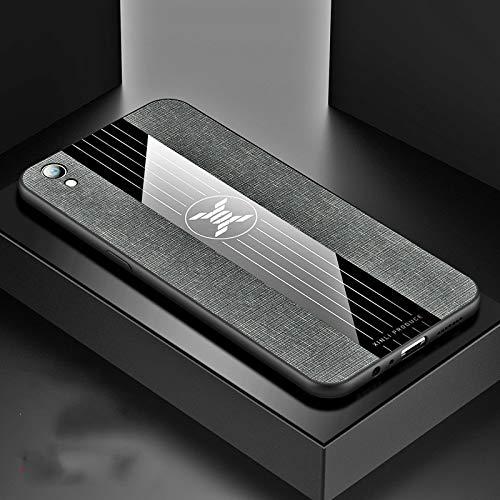 Stoßfeste TPU Tasche für Smartphone Ror Oppo R9 Plus-Stitching-Tuch textue Stoß- TPU-Schutzhülle (schwarz) (Farbe : Gray)