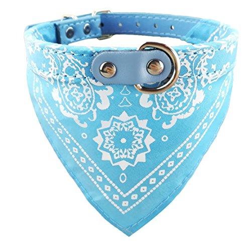 Newtensina Perro de la Moda Bandana Collar Collar de Perro Boy Pañuelo Medio Perrito Pañuelo con Cuello para Perros