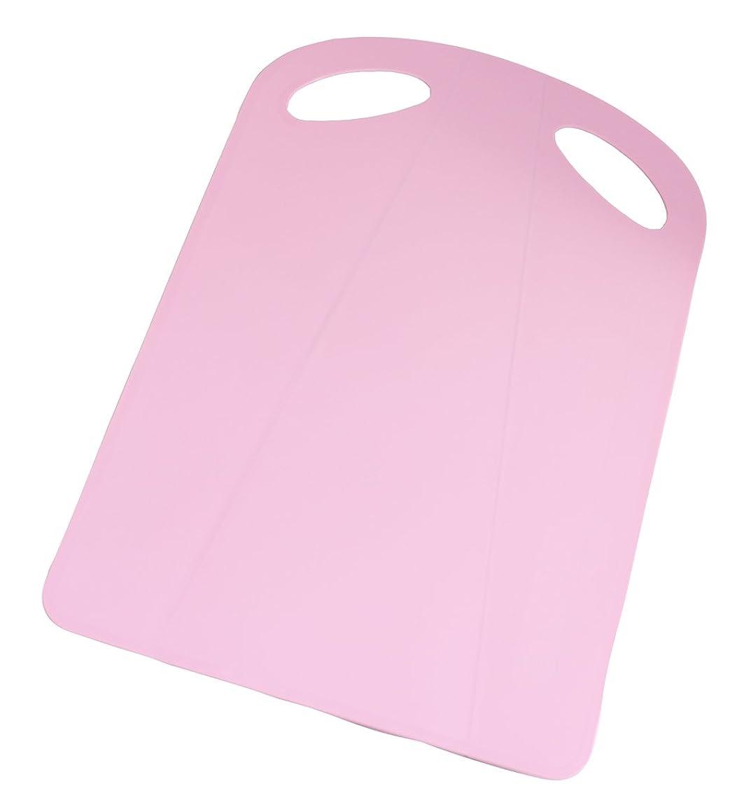 シャトルガウン責めるトンボ 折れる まな板 37×24.5×0.2厚cm ピンク