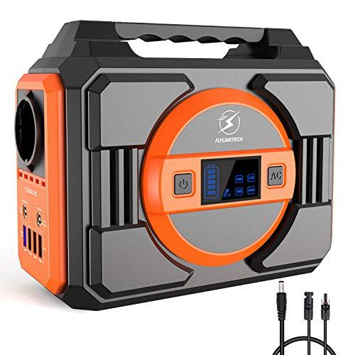 FLYLINKTECH 300W Générateur d'Énergie Portable, 75000mAh 277.5Wh Générateur solaire Batterie Externe Alimentation de Secours pour Voyage Camping, avec 2 prises CA 2 DC 4 USB Ports, Navire de FRANCE
