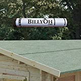 BillyOh Premium Green Mineral Shed Roofing Felt - 10m Roll With Fixings
