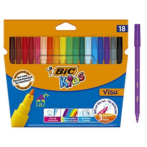 BIC Kids Visa Feutres de Coloriage à Pointe Fine