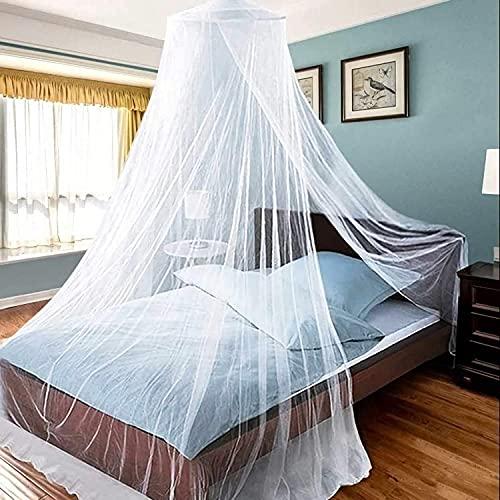 Doppelbett Baldachin Parkarma Universal Dome Moskitonetz Hängendes Moskitonetz für Einzel bis Kingsize-betten Hängematten und Kinderbetten - Weiß