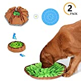 NOODLE Dogs Snuffle Mat, Puzzle Toys for Dogs, Dog Feeding Mat, Pet Maze Food Bowl Used for Slow Feeding and Smell Training Good for Dog Health and Releasing Pressure, Adjustable Size (M)