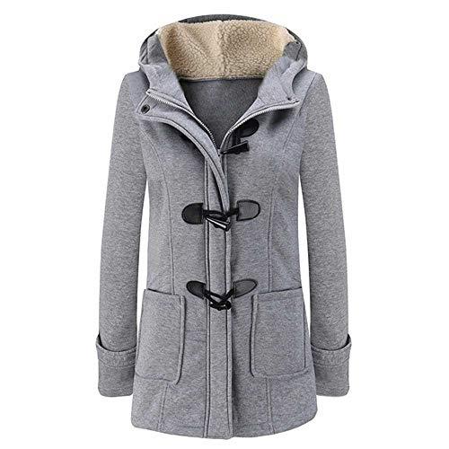 PXFX Fashion Hooded Vrouwen Jas Pure Gesp Rits Front Plus Size Jas Herfst Dunne Duffle Jas Vrouwen Casual Slim Lange Jas
