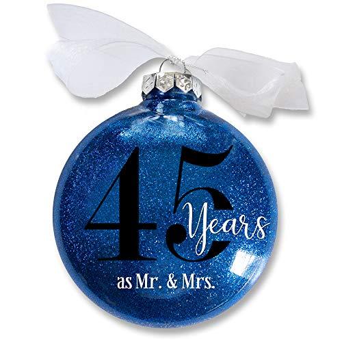 45th Wedding Anniversary Christmas Ornament, 45 Years as Mr & Mrs,...