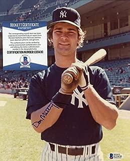Don Mattingly Signed Picture - Vintage 8x10 Bas E33430 - Beckett Authentication - Autographed MLB Photos