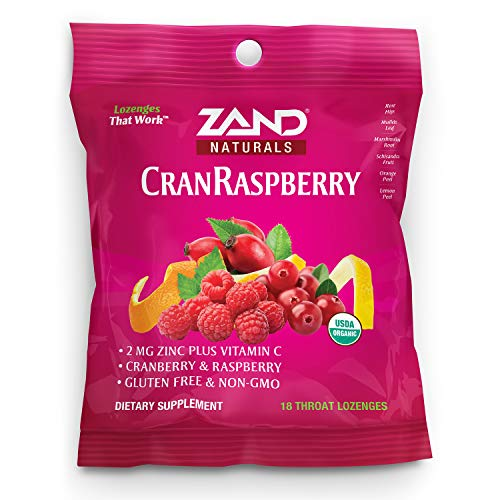 ZAND - Organic Cranberry Raspberry Lozenges - 18 Loz