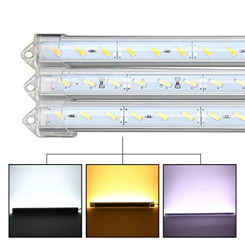 Wchaoen 50cm 9W 1800lm 36 SMD 7020 imprägniern starre Streifen-Kabinett-Licht DC-12V IP44 LED Neuer LED-Lichtstreifen (Color : Pure White)
