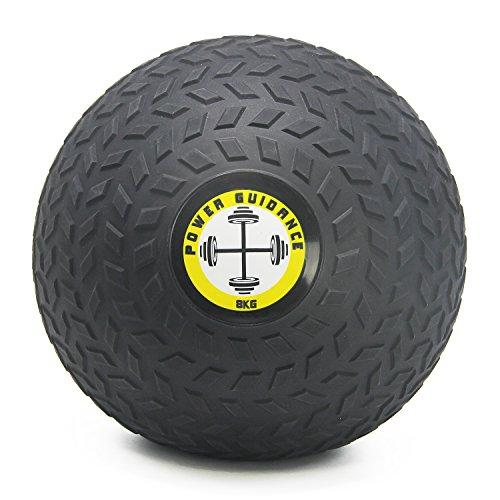 POWER GUIDANCE Slam Ball Balón Medicinal Antideslizante Ideal para los Ejercicios de Functional Fitness - 8kg