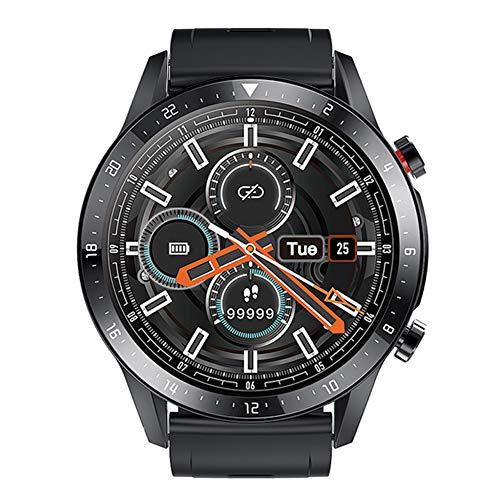 Wan&ya Reloj Deportivo Inteligente para Hombres, Reloj de Pulsera Android Impermeable con Respuesta de Llamada, Monitor de Ritmo cardíaco y sueño, Reloj de Seguimiento de Actividad física