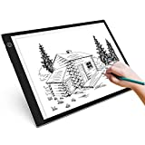 A4 Drawing Board, LB-A4 Super Thin LED Light Box Drawing Pad with Brightness Adjustable, Art Craft Drawing Tracing Tattoo Board for Artists, Drawing, Animation, Sketching, Designing, Stencilling