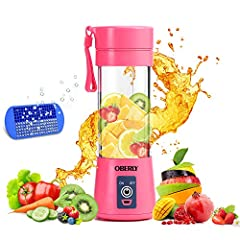 Small but mighty powerful: This powerful battery-operated blender can produce 10-12 cups per charge. Simply charge via USB port 2-3 hours before initial use, then add your ingredients and power-on for a tasty smoothie or shake in 90 seconds. Simple a...