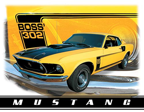 Desperate Enterprises Ford Mustang BOSS 302 BLECHSCHILD USA NEU GROß S1255