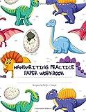 Kindergarten Dinosaur T-Rex Handwriting Workbook: Primary Composition Notebook: Dinosaur Jurassic World Journal (Blank Dotted Writing Sheets Notebook For Preschool And Kindergarten)
