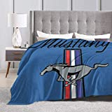 Baulerd Ford Mustang Ultra-Soft Micro Fleece Blanket Couch 50'' x40