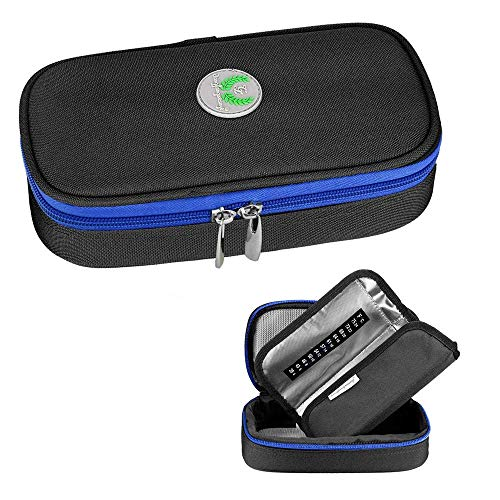 CLJ Insulinkühler Koffer, Medizin Diabetes isolierte Aufbewahrungstasche für Insulinpens und Diabeteszubehör, tragbare Kühltasche, schwarz LJCi