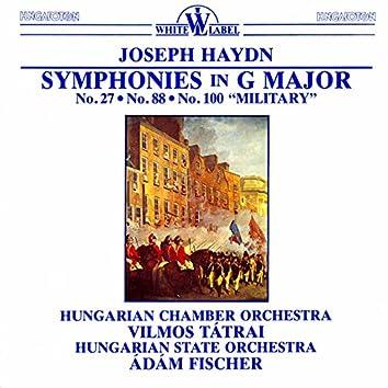 "Haydn: Symphonies in G Major, Nos. 27, 88, 100, ""Military"""