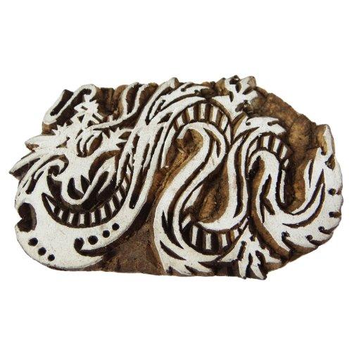 Drachen Muster Indische Holzblock Kunst Textildruck auf Stoff-Stempel
