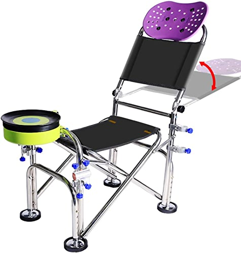Hxx Camping et Randonnée Chaise de Pêche Pliante Chaise de Pêche Multifonction Fournitures de Pêche Chaise Extérieure Portable Robuste et Durable 150kg