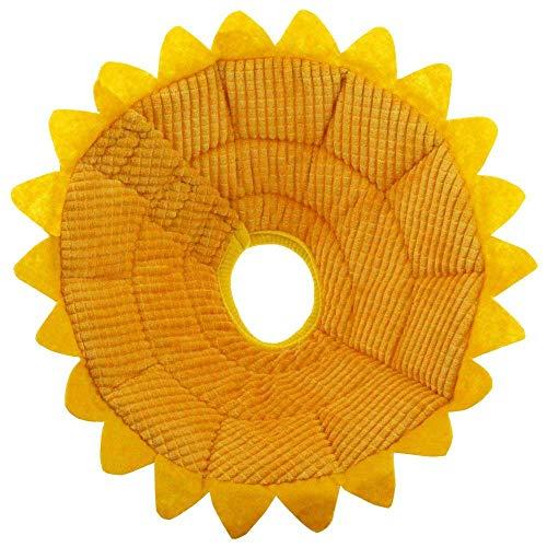 CaaWoo Sunflower Pet Elisabettiano Collare, Collare Morbido Protettivo per Oggetto per la Cura dei Gatti Cane Post-Chirurgico