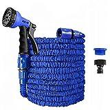 Gartenschlauch, erweiterbarer Gartenschlauch, flexibler Gartenschlauch, flexibler Gartenschlauch, knickfreier Wasserschlauch mit 8 Funktionen, flexibler Wasserschlauch (blau, 7,6 m)